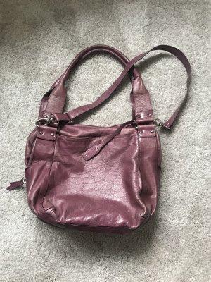 abro Crossbody bag purple leather