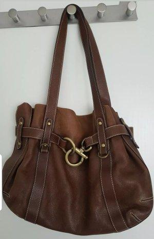 abro Handbag brown leather