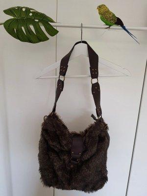 Biaggini Torba na ramię brązowy-ciemnobrązowy Poliester