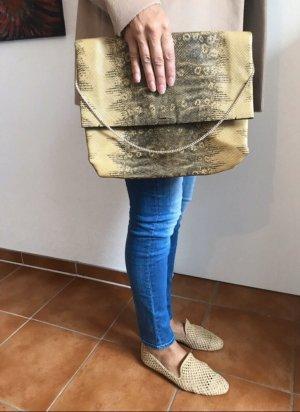 Tasche aus Leder in Reptil Optik