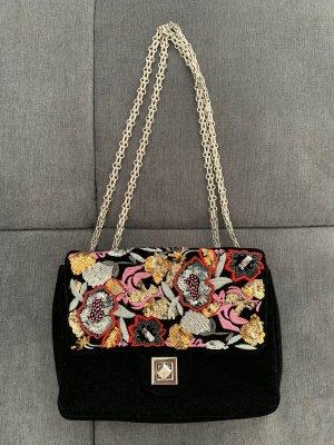 Tasche aus Samt mit Blumenmuster und Pailetten BUFFALO