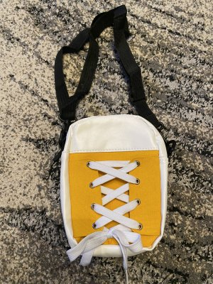 100% Fashion Mini Bag white-yellow