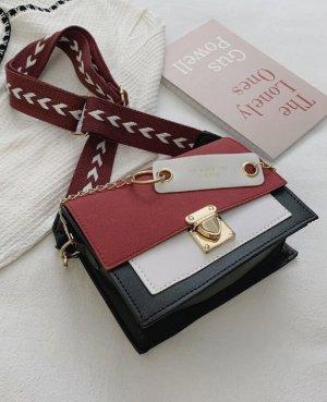 100% Fashion Borsetta rosso scuro