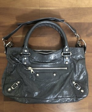 Balenciaga Handbag dark grey leather