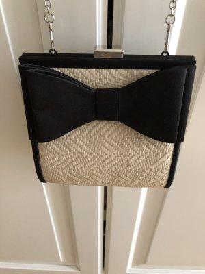 Mini sac noir-crème tissu mixte