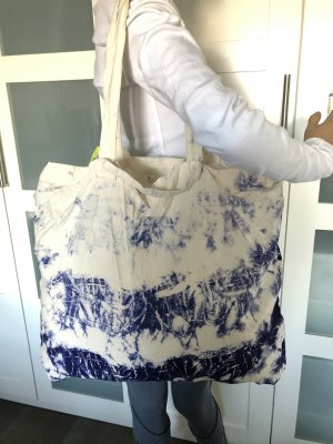 Comprador azul-blanco Algodón