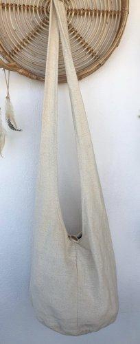 Handmade Torebka typu worek w kolorze białej wełny Bawełna