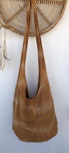 Handmade Torebka typu worek Wielokolorowy Bawełna
