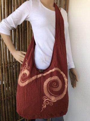 Handmade Sac seau rouge carmin-rose chair coton