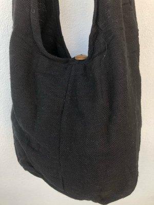 Handmade Torebka typu worek czarny Bawełna