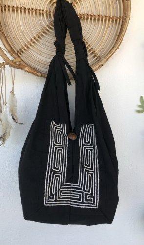 Ohne Shopper black-natural white cotton