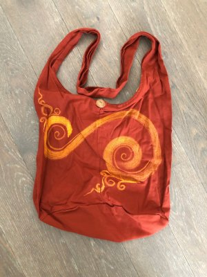 Sac seau rouille-orange clair coton