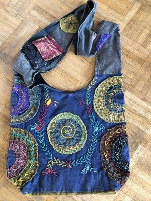 Pouch Bag multicolored cotton