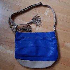 Tasche blau Handtasche Neu mit Trägergurt