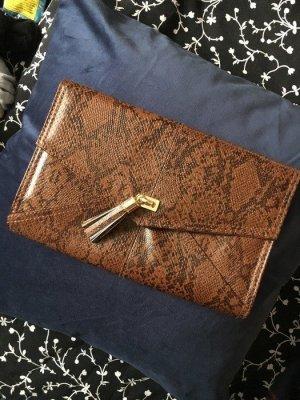 Tasche Braun mit Schlangenmuster
