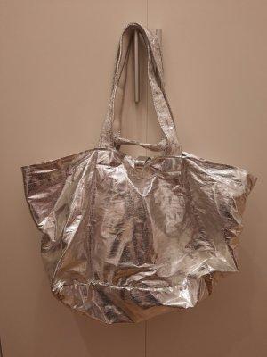 Brasi&Brasi Shopper silver-colored