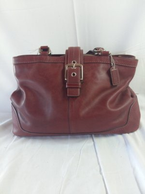 Coach Carry Bag bordeaux leather