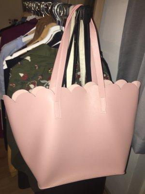 Borsa shopper color oro rosa