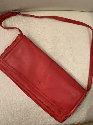 Tasche Clutch Kalbsleder Leder von Voi rot