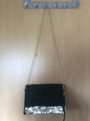 Tasche/Clutch mit Pailetten aus Samt