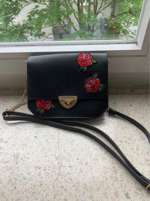 Tasche Clutch Umhängetasche Bag schwarz COX