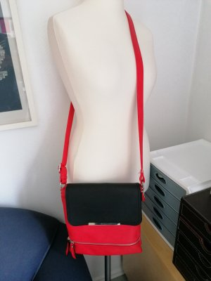 Tasche cross body rot schwarz modisch trendig