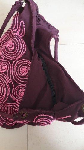 Torebka typu worek fiolet-purpurowy