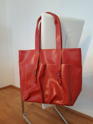 Shopper orange-rouge brique