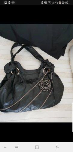 Basket Bag black-beige