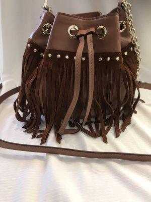 Diane von Furstenberg Bolso de flecos marrón