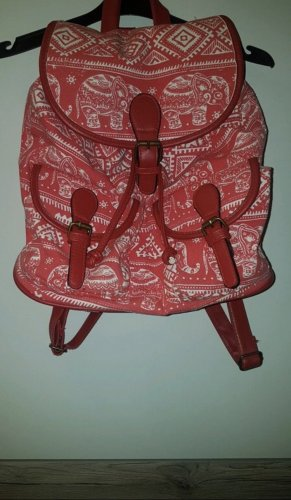 Backpack Trolley bright red-white
