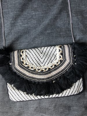 Zara Borsa con frange nero-bianco