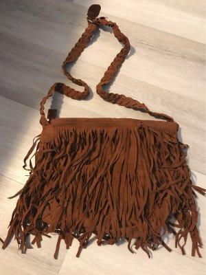 Bolso de flecos marrón