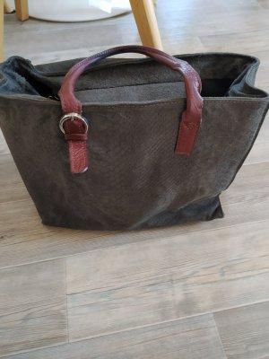 Tasche grau  aus Wild Leder