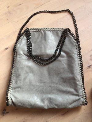 Tasche grau mit Ketten
