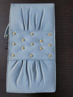 Tasche Handtasche Clutch Clutch-Tasche blau hellblau Leder NEU