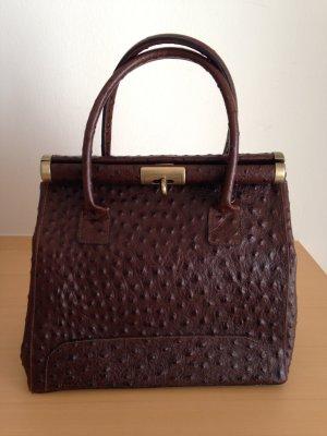 Tasche , Handtasche , in Braun , Leder