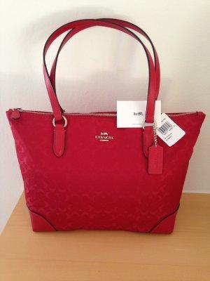 Tasche , Handtasche , Schultertasche, Shopper, von Coach , neu, in Rot, NP: 350€