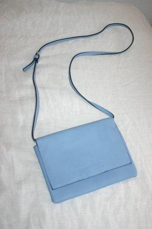 Tasche Handtasche Umhängetasche blau türkis gold Sommer