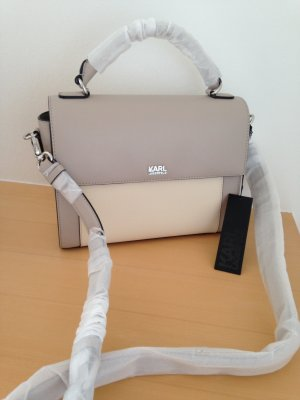 Karl Lagerfeld Borsetta crema-marrone-grigio Pelle