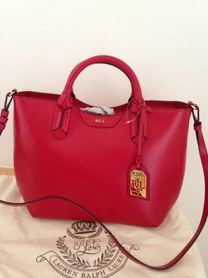Tasche, Handtasche, von Ralph Lauren, neu, in Rot, Leder, NP: 349€