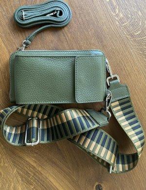 Tasche Handytasche Ledertasche Geldbeutel neu Olive 2 Gürtel