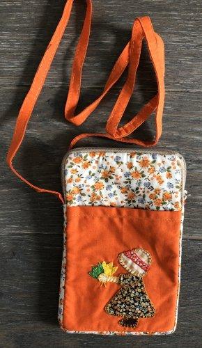 Handmade Pokrowiec na telefon komórkowy pomarańczowy neonowy Bawełna