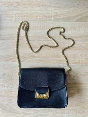 Torebka mini czarny-złoto