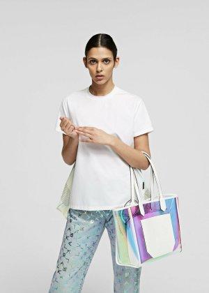 Karl Lagerfeld Shopper turquoise-white