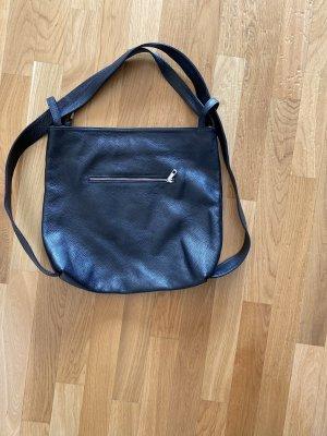 Tasche Leder schwarz Schultertasche Rucksack