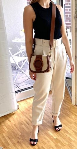 Tasche Lennox von Polo Ralph Lauren mit Lederbesatz