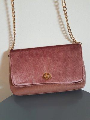 Tasche lila gold samt