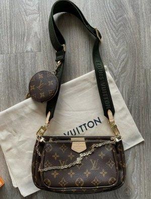 Tasche Louis Vuitton ◇ Multi Pochette mit Grün Gürtel ◇ Neu ◇