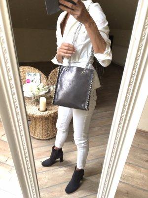 Tasche Metallic grau Zara Neu!